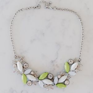 Jewelry - Green and White Statement Necklace